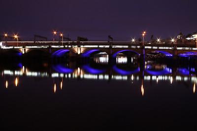 Glasgow Bridges At Night