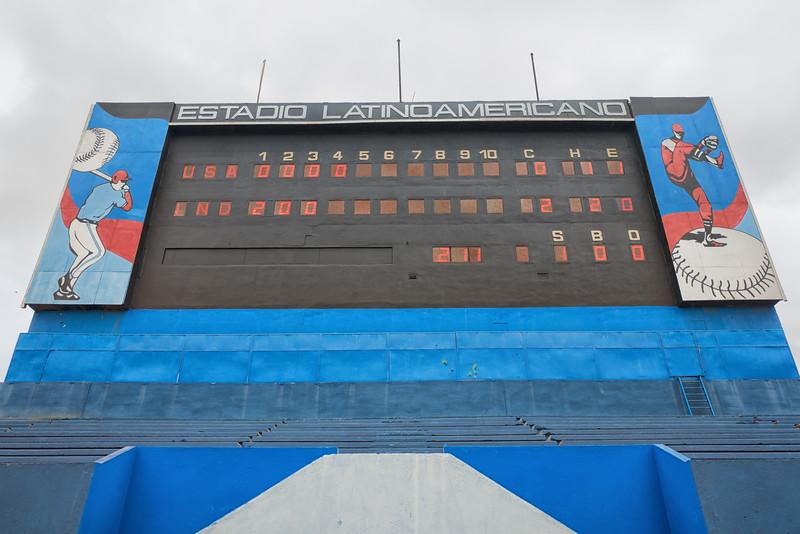 Latin American Stadium in Havana.  Penn State vs Cuba.