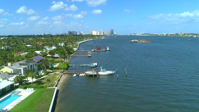 Coastal West Palm Beach FL 4k drone video footage