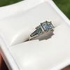 1.15ctw Emerald Cut Diamond Trilogy Ring 5