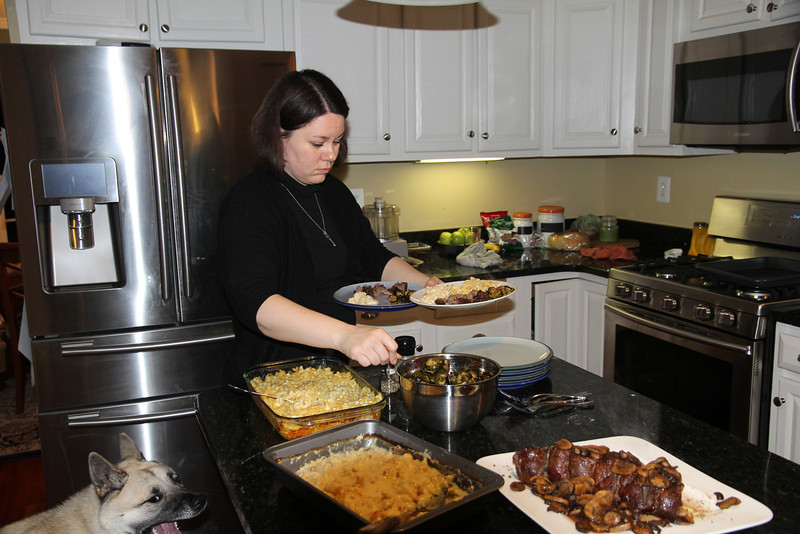 Sonya cooked a wonderful meal before we opened gifts