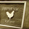 Cream Colored Farmhouse Kitchen with Rooster Graphic