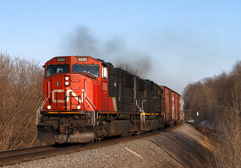 Canadian National 5680 (GMD SD75I) - Richfield, WI