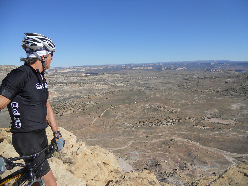 . Mark Richards looks down upon the Rabbit Valley from Kokopelli\'s Trail in eastern Utah. Handout Photo