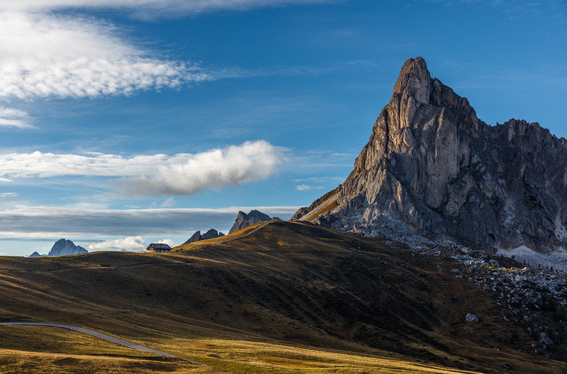 Passo Giau in the light