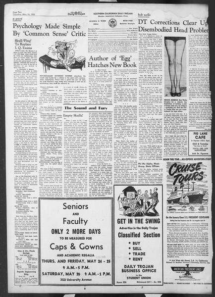 Daily Trojan, Vol. 42, No. 137, May 24, 1951