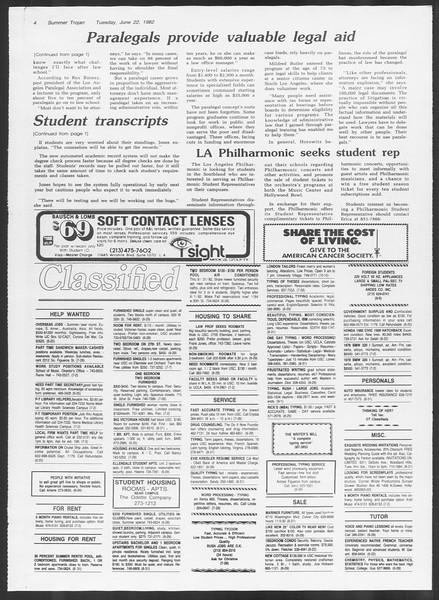 Summer Trojan, Vol. 91, No. 8, June 22, 1982