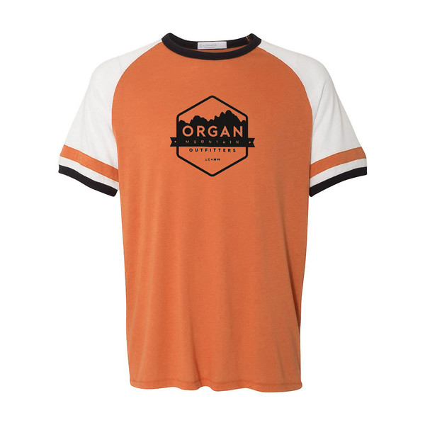 Organ Mountain Outfitters - Outdoor Apparel - Mens T-Shirt - Organ Mountain Vintage Jersey Tee - Orange White Black.jpg