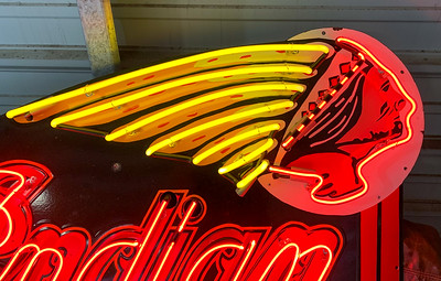 Indian Motocycles Neon Sign on IMA