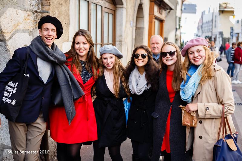 Dylan, Hannah, Ellie, Sofia, Caroline, and Annika in Annecy