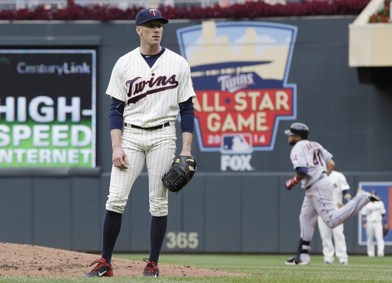 """. <p>9. CLEVELAND INDIANS <p>Playoff berth wouldn�t have been possible without help of their lapdogs in Minnesota. (unranked) <p><b><a href=\'http://www.twincities.com/twins/ci_24197999/indians-5-twins-1-after-hot-start-cole\' target=\""""_blank\""""> HUH?</a></b> <p>    (AP Photo/Jim Mone)"""