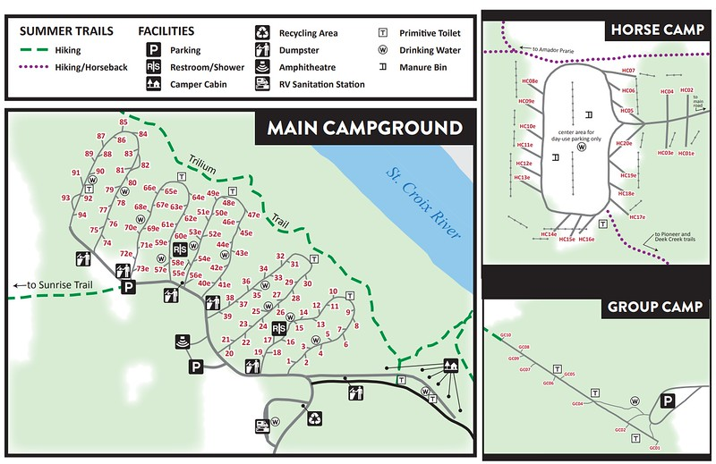 Wild River State Park (Campground Maps)