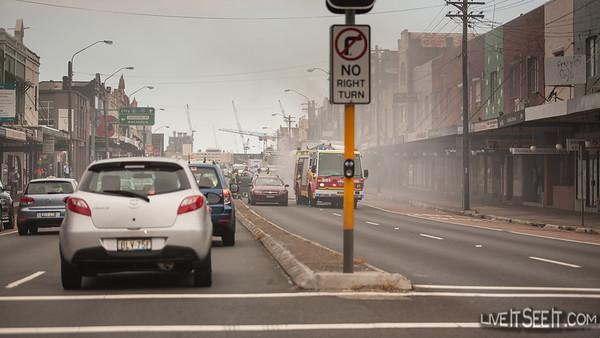 Fire - Car on Parramatta Rd, Annandale. 17 Dec 2012