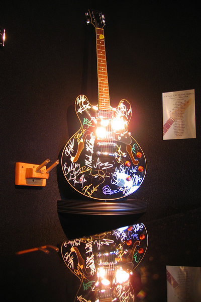 Cly wasn't sure what the significance of this guitar was but he thought it looked nice.