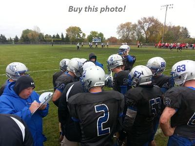 BBE football vs. Pierz - Mud Bowl 10-12