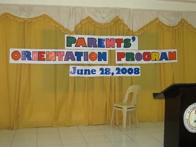 Parent Orientation 2008