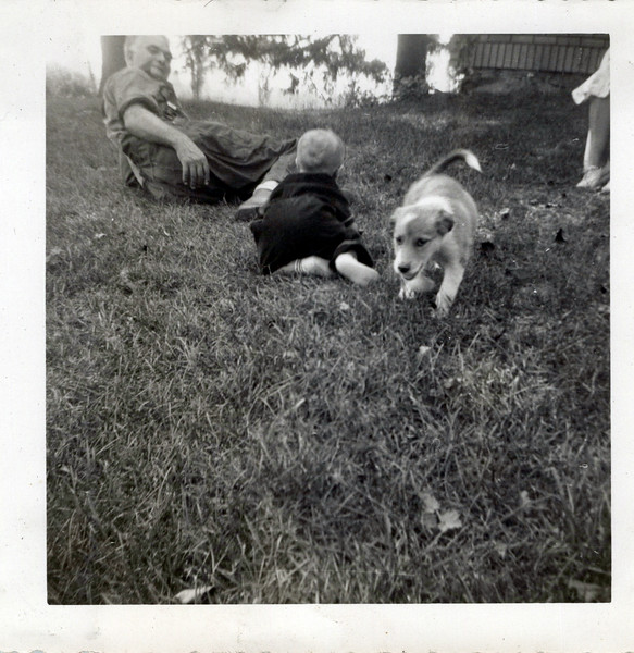 1952 Grandpa, Ken and puppy.jpeg