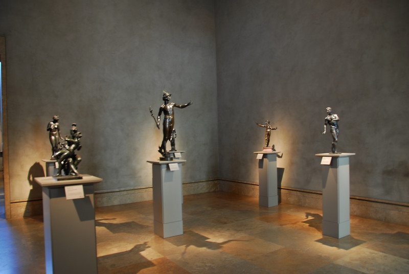 Room filled with sculptures in Getty Museum in California