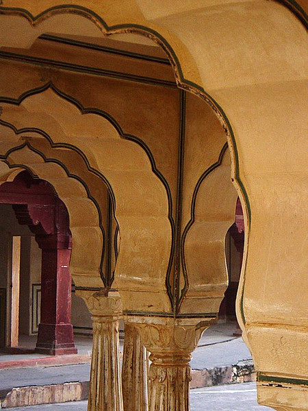 inside the Amber Palace, Jaipur