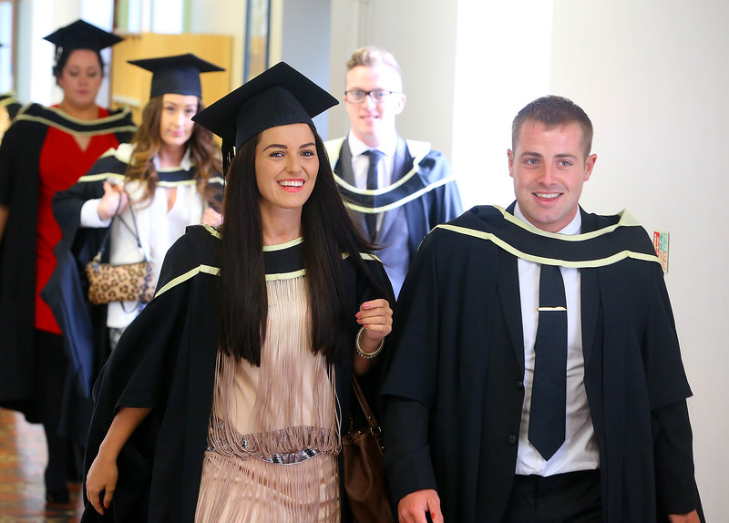 Waterford Institute Of Technology Conferring. Pictured at WIT Waterford Institute Of Technology Conferring are Siobhan Crotty and Noel Connors who graduated Masters of Business. Picture: Patrick Browne