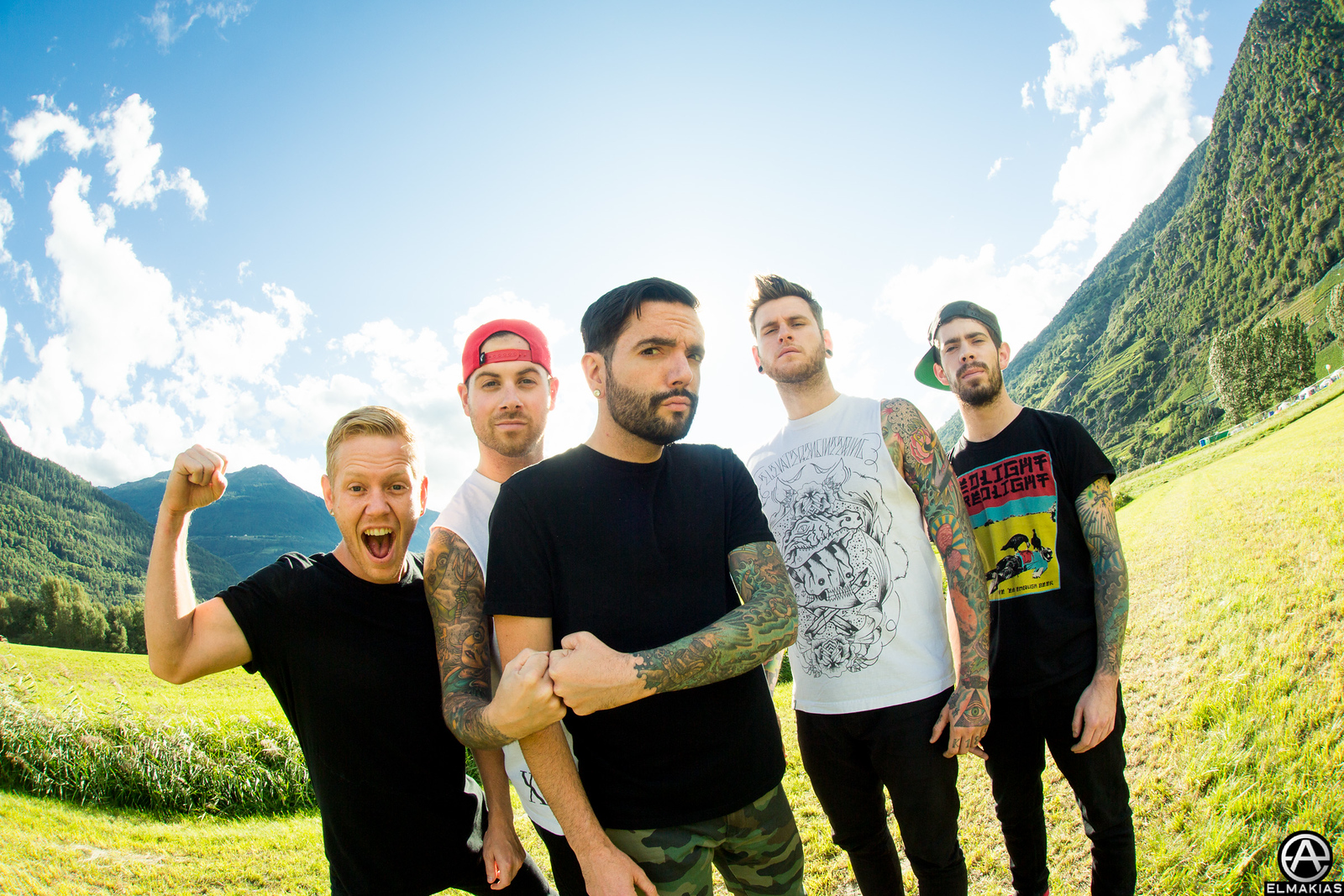 A Day To Remember at Open Air Gampel Festival in Switzerland