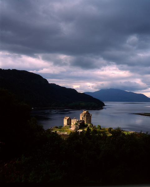 Eilean Donan Castle from above.