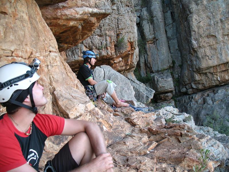 Matt (left) and Bernardo at Mt Arapiles.  Photo: Johanna