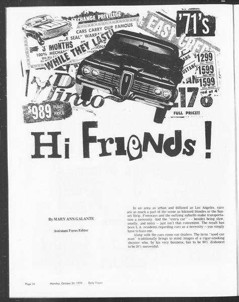 SoCal, Vol. 62, No. 24, October 26, 1970