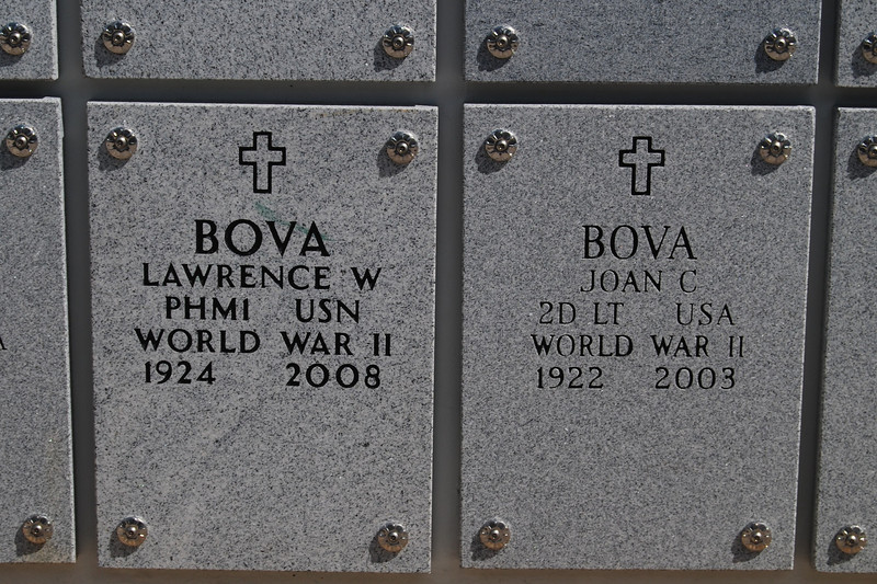 Grave Markers for Larry and Joan Bova