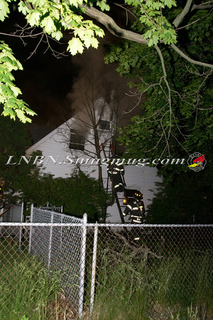 Levittown F.D.  House Fire 133 Gardiners Ave 5-30-12
