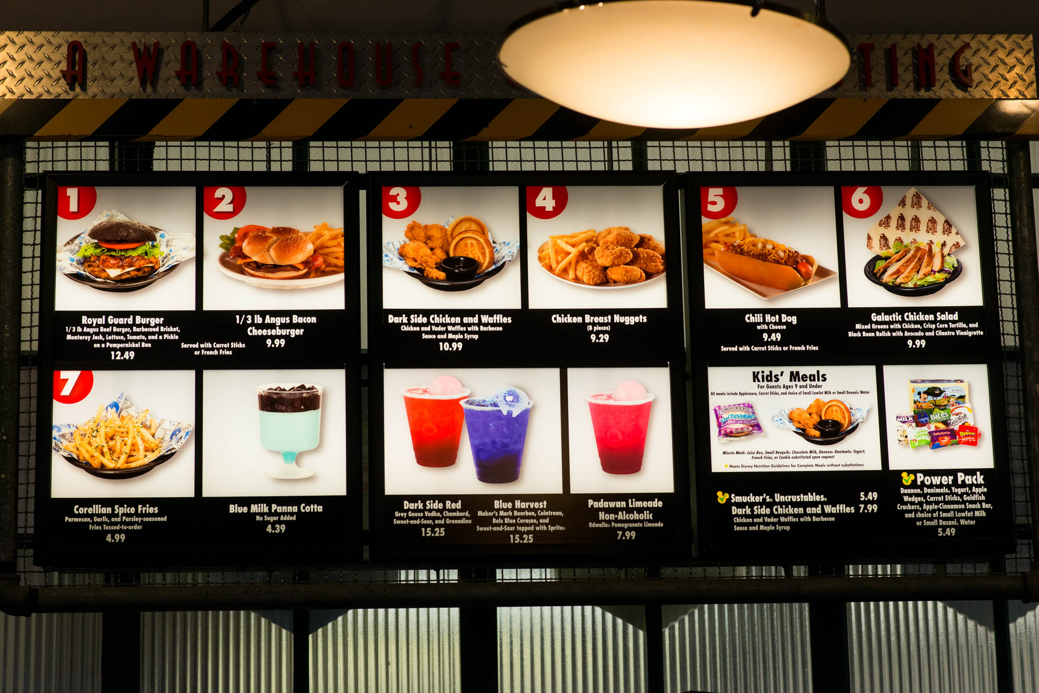 Backlot Express Menu - Disney's Hollywood Studios