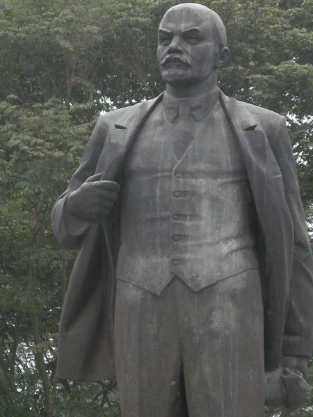 A statue of Lenin in downtown Hanoi.