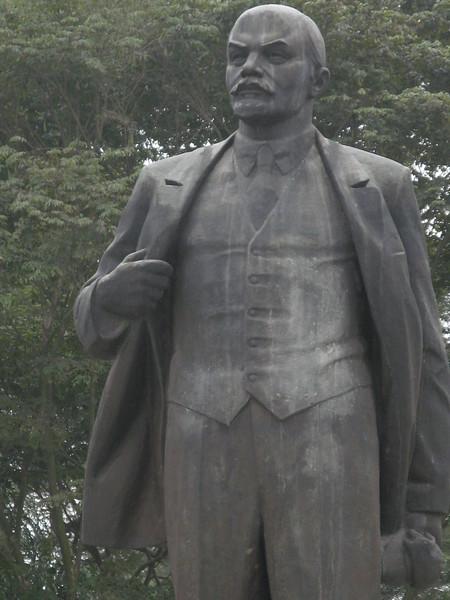A statue of Lenin in downtown Hanoi.