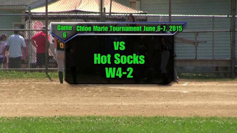 Sundogs June 6-7, 2015 Chloe Marie Tournament Game 6 vs Hot Socks Win 4-2