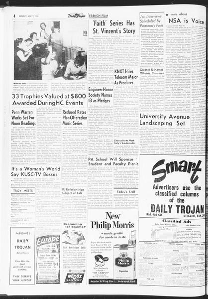 Daily Trojan, Vol. 47, No. 37, November 07, 1955