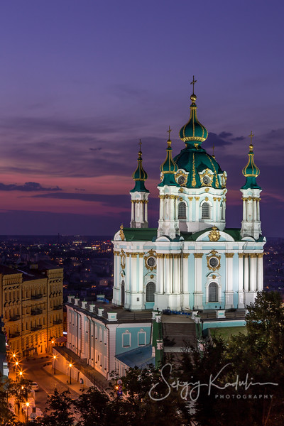 Andriivska Church in Kyiv, Ukraine