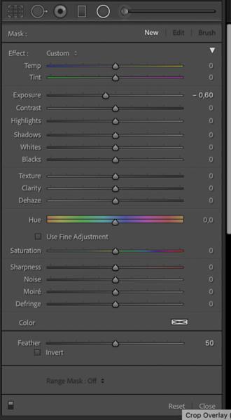 Radial Filter Settings