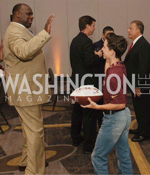 Dexter Manley, Jack Rainey. Photo by Yasmin Holman.  Redskins Welcome Home Lunch 2019. Washington Hilton. 08.28.19