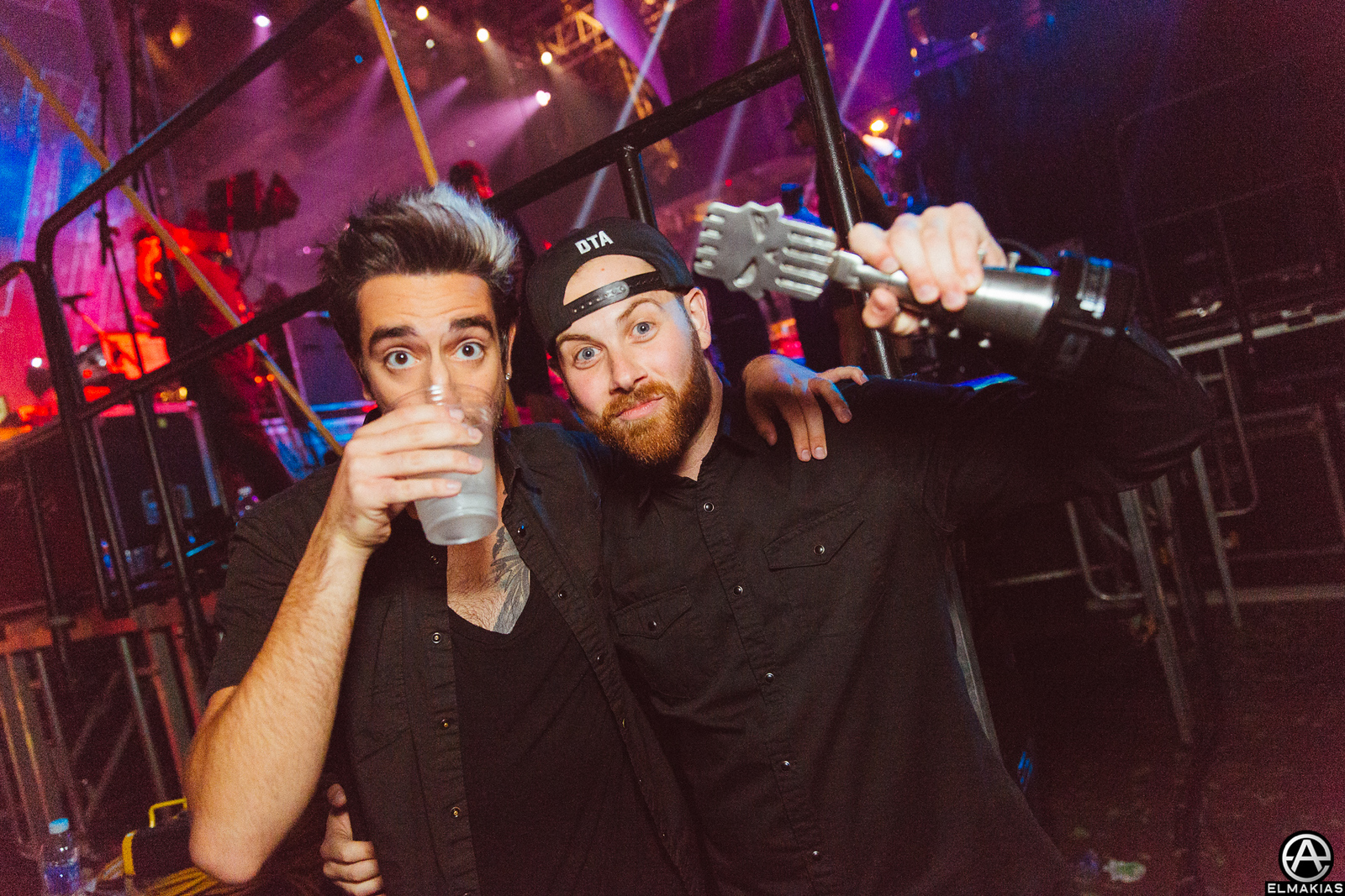 Jack Barakat of All Time Low and Kevin Skaff of A Day To Remember at the APMAs 2015 by Adam Elmakias