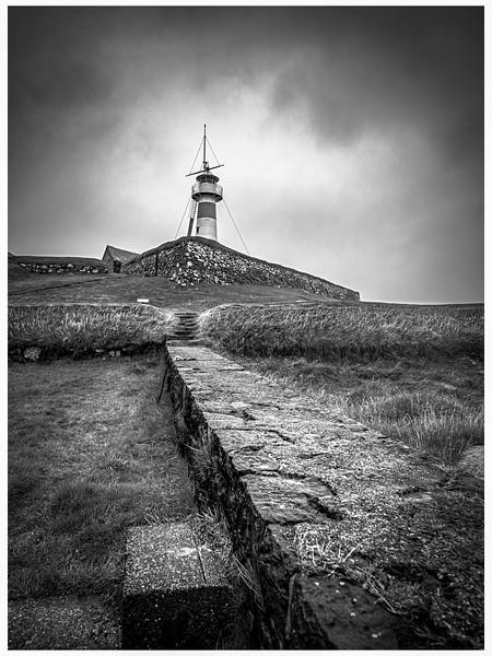 Faroe Lighthouse 2      Black and White Photography by Wayne Heim