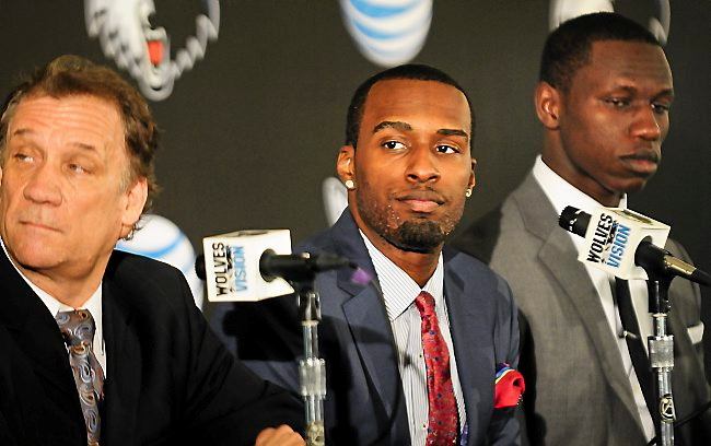 ". <p><b> Timberwolves rookie Shabazz Muhammad got into trouble with the NBA when he invited this to his hotel room during the Rookie Transition Program � </b> <p> A. A woman  <p> B. His pot dealer  <p> C. All of the above   <p>  (Pioneer Press: Ben Garvin) <p><b><a href=\'http://www.twincities.com/timberwolves/ci_23814276/timberwolves-shabazz-muhammad-kicked-out-nba-rookie-program\' target=""_blank\""> HUH?</a></b>"