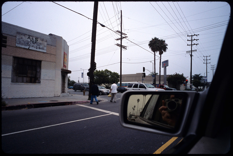 Huntington tract, bicycling  and walking to work, etc., Los Angeles, 2005