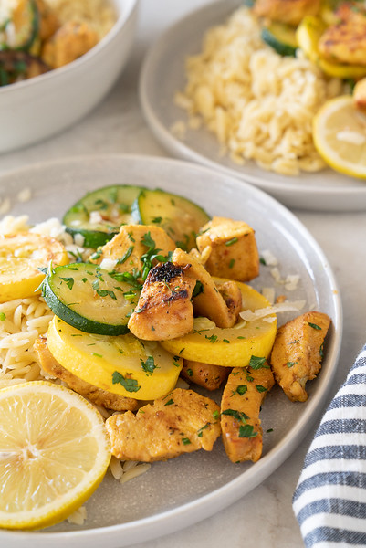 Zucchini and chicken dinner