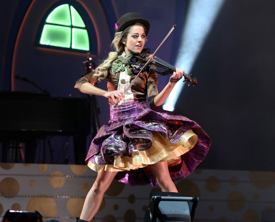 . Lindsey Stirling performs at the Cobb Energy Performing Arts Centre on Wednesday, November 22, 2017, in Atlanta. Stirling performs Aug. 4 at Jacobs Pavilion at Nautica. For more information, visit nauticaflats.com.  (Photo by Katie Darby/Invision/AP)