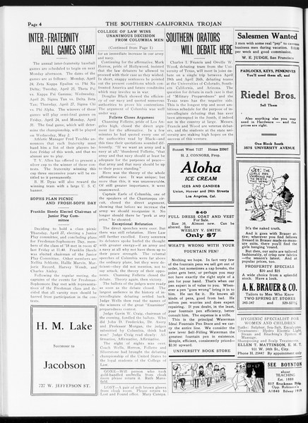 The Southern California Trojan, Vol. 7, No. 101, April 18, 1916