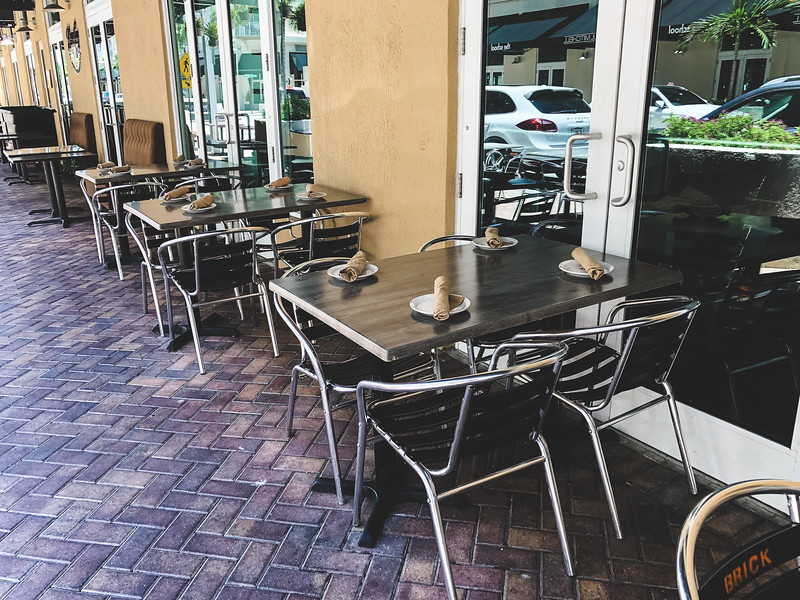 The Brick American Kitchen & Bar, Downtown Dadeland - outside seating