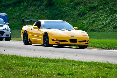 2021 SCCA TNiA  Aug 27 Pitt Adv Yellow Vette 1