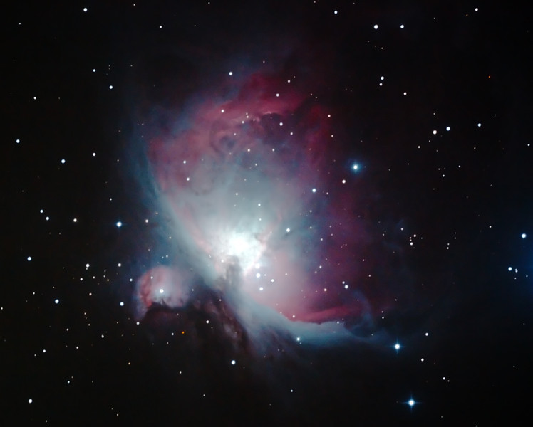 M42 NGC1976 Orion Nebula - 28/10/2013 (Processed cropped stack)