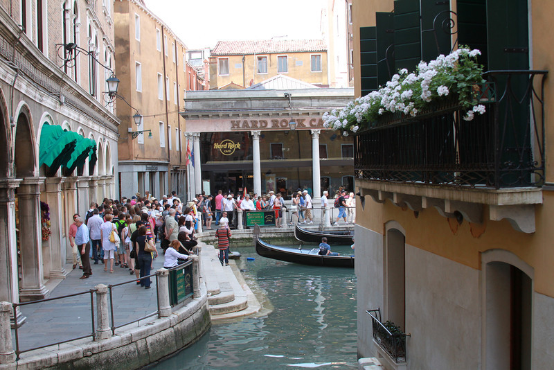 Of course, everyone wants to visit the local joints in Venice like the Hard Rock Cafe.