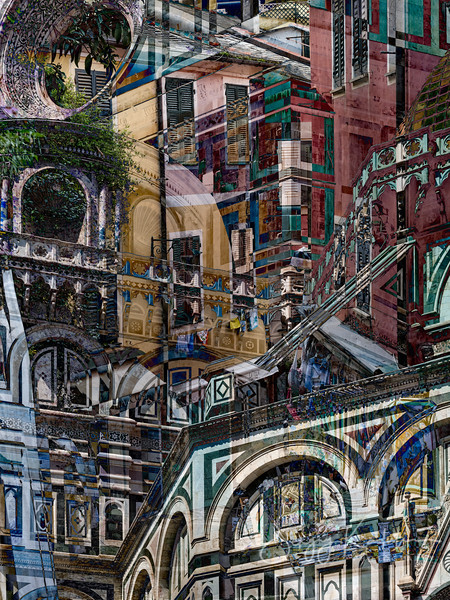 Florence and Portofino, merged with love